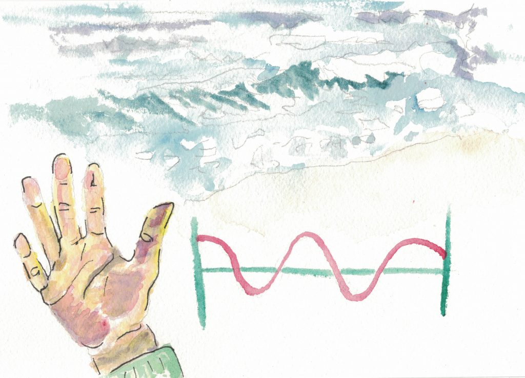 Double entedres and homonyms are interesting things. Wave, for example, expressed with a hand gesture, ocean occurrence, and sound pattern. Guess that would make it at least a triple entendre.