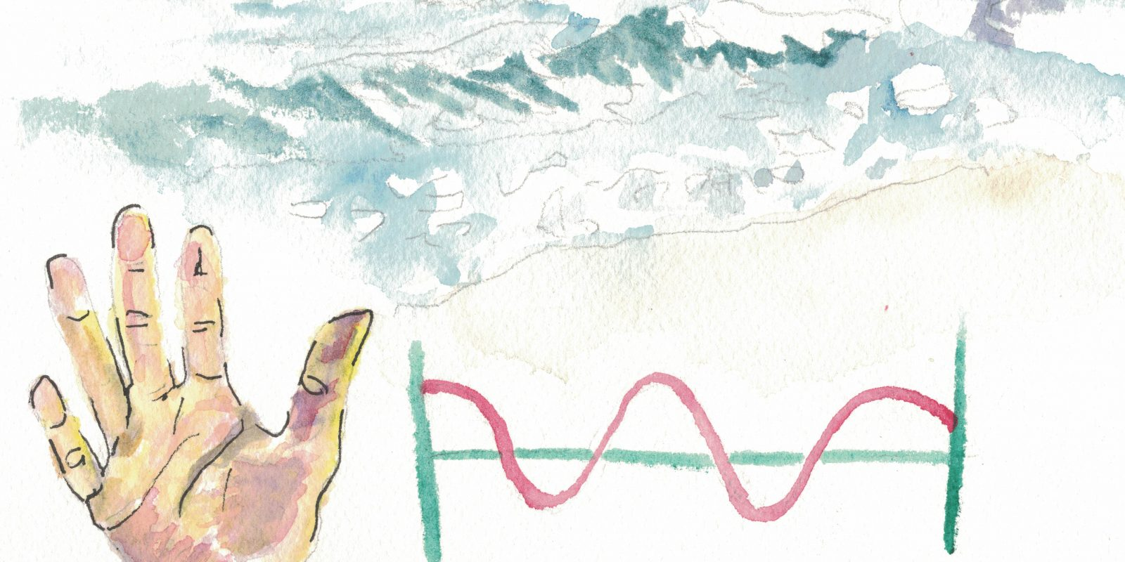 Wave is a homograph expressed with a hand gesture, ocean occurrence, and sound pattern.